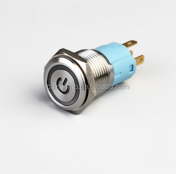 16mm Automotive electric switches/Vandalism switch/Metal push button switch