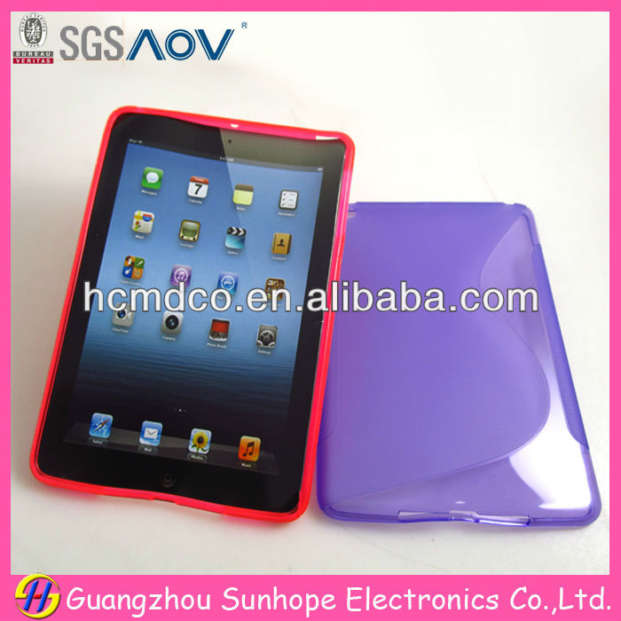 Soft rubber skin case for Ipad mini 3 cases