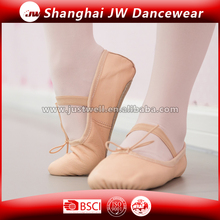 Factory Price Cheap Pig Leather Ballet Shoes Pink
