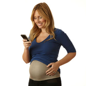 Silver Fiber RF Belly Band for the Maternity