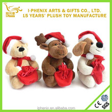 China manufacturer stuffed plush toy hot 2014 Christmas toys cute animal Christmas plush toy