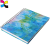 Custom printed wire o binding metal spiral notebook with bookmark