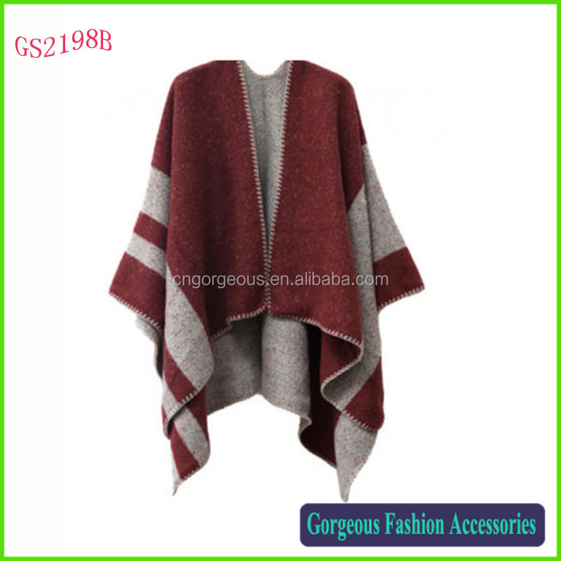 Luxury fashion USA style ladies cashmere cape poncho wholesale