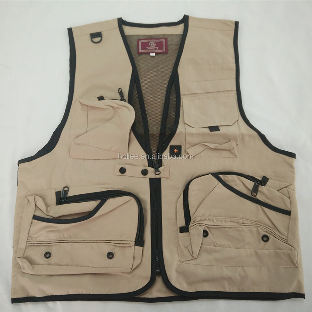 Polyester double use fishing vest