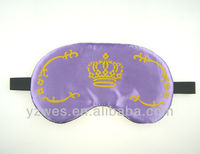 2013 satin material with customized logo sleep mask funny eyes