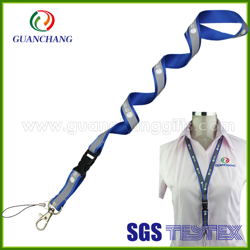 Glow in the dark marbles reflective police lanyard,safety belt with shock absorber lanyard