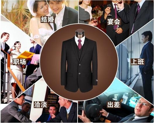 latest design custom made black wool coat pant mens suit