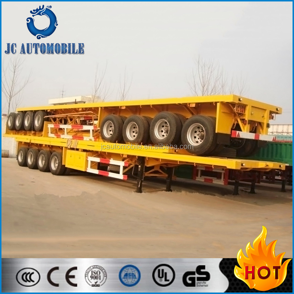 40 ft flatbed container semi trailer/flat bed semi trailer/truck trailer for sale