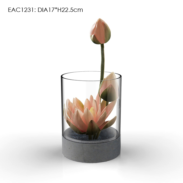 High quality promotional decoration crystal glass flower vase // antique flower large chinese clear glass marble vase