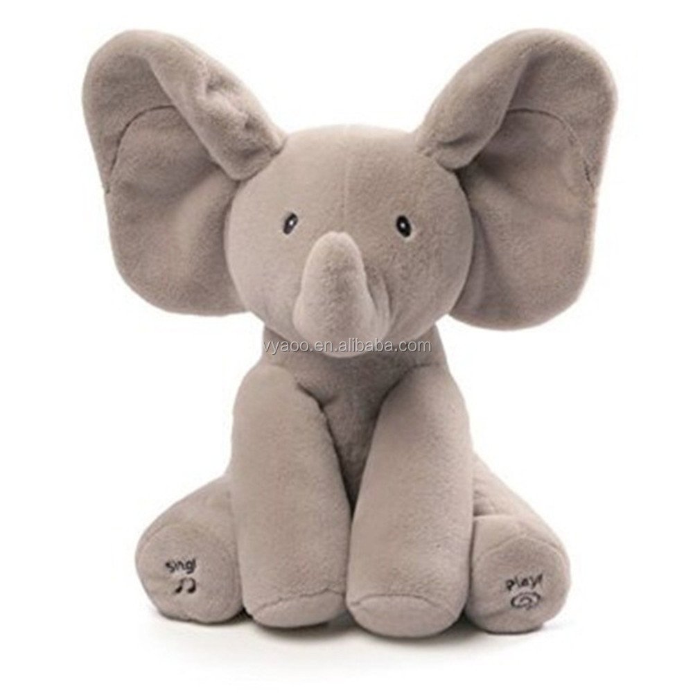 High quality singing electrical musical elephant plush baby child toys