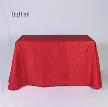 custom printing waterproof polyester Rectangle tablecloth wedding table cloth