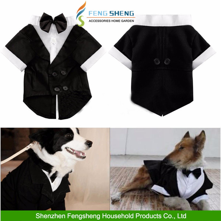 2016 China Wholesale Pet Product Supply Dog Costume On Date Wedding Dress up Suit