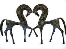 Christmas Gift bronze delicate tang horse sculpture