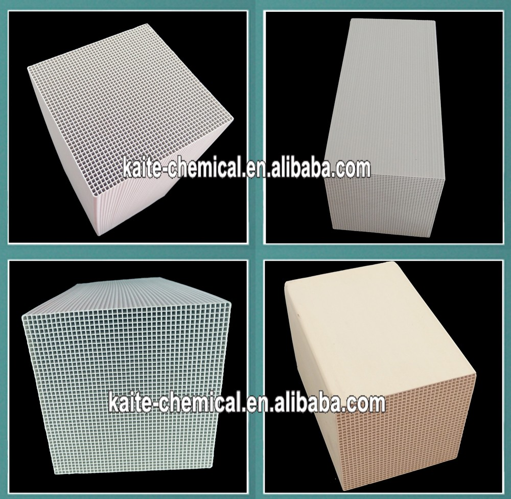 Thermal cordierite honeycomb ceramic regenerator for RTO RCO 150*150*300mm