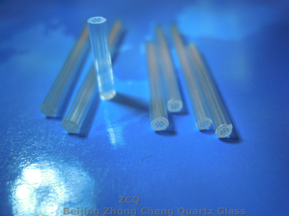 Micro perforated 7holes Quartz Glass Capillary tube/ pipe OD 2.5*ID0.35