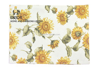 New design sunflower patten fabric placemat hot sales in Amazon