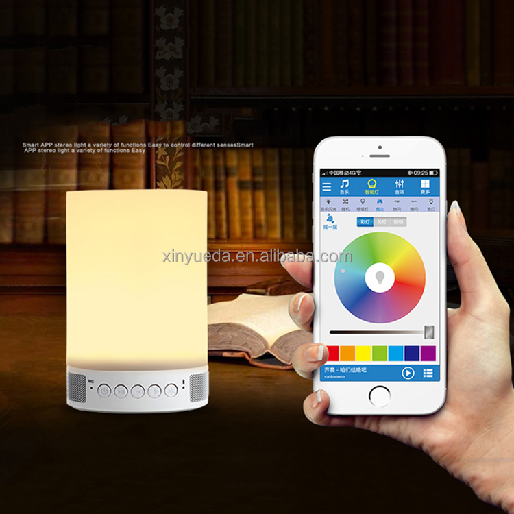 LED Night Light Portable Colorful Wireless Bluetooth Speaker with LED Light