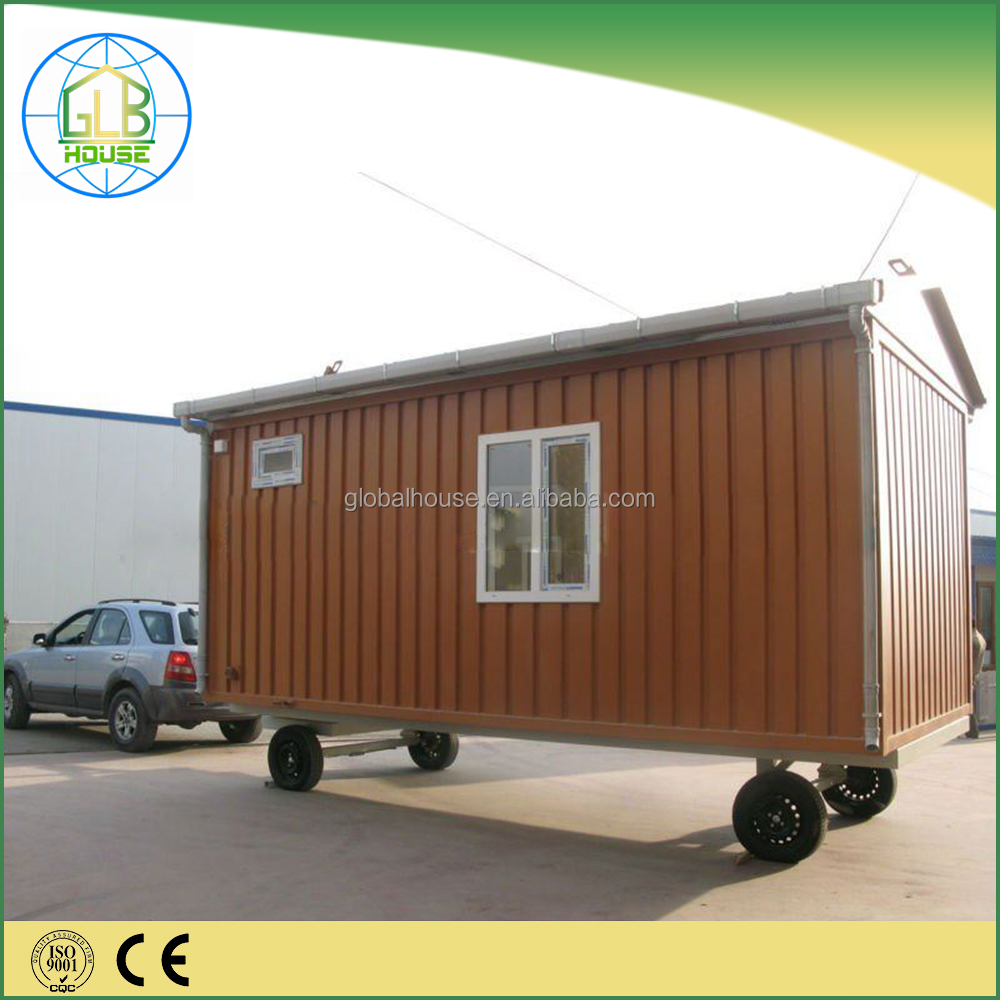 Pre-made movable tiny container house home with wheels