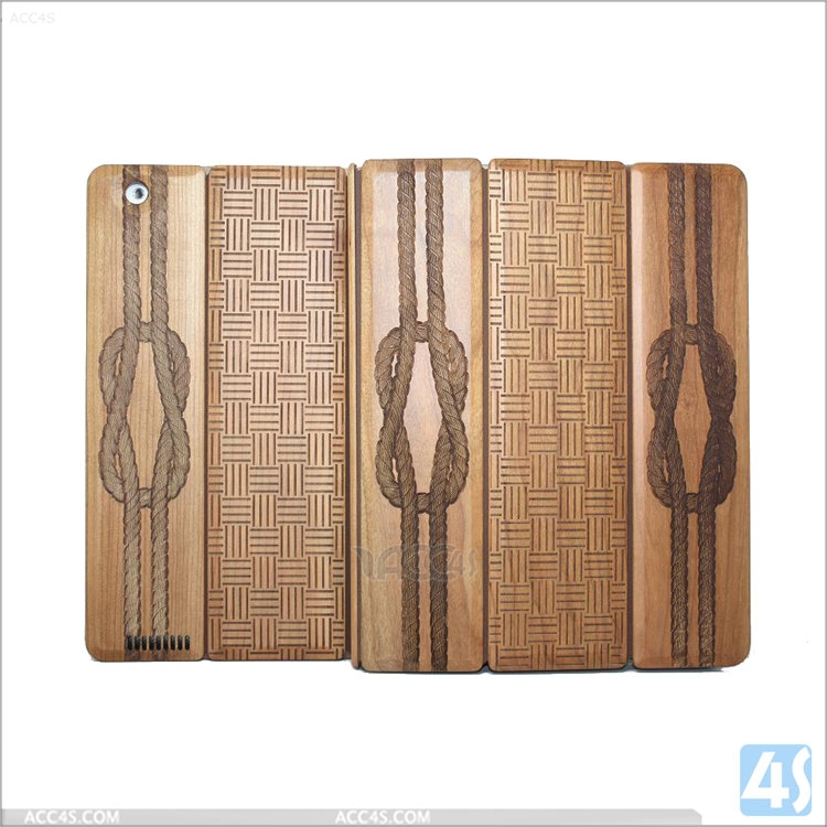 Simple pattern wood wooden case for Apple ipad 2 /3 /4