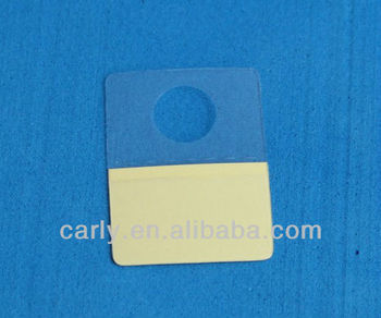 Thin hook,plastic adhesive round hole mask hang tabs(I-253315D)