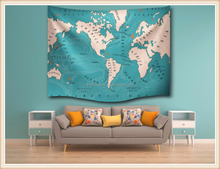 World map digital/flat printing religious tapestry images