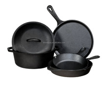 FDA Cheap High Quality Cast Iron Cookware for Camping