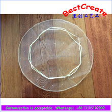 Custom color and size 26cm, 35cm,40cm, 50cm diameter Drawstring Round Organza baby shower Bags with dots