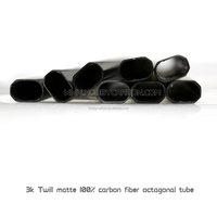 Customized 6*4*1000mm 3k Matte Twill/Plain 100% full carbon fiber octagonal tube pipe for Multicopter