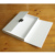 Luxury rigid A4 book shape cardboard paper gift card storage packaging notebook letter box with lock