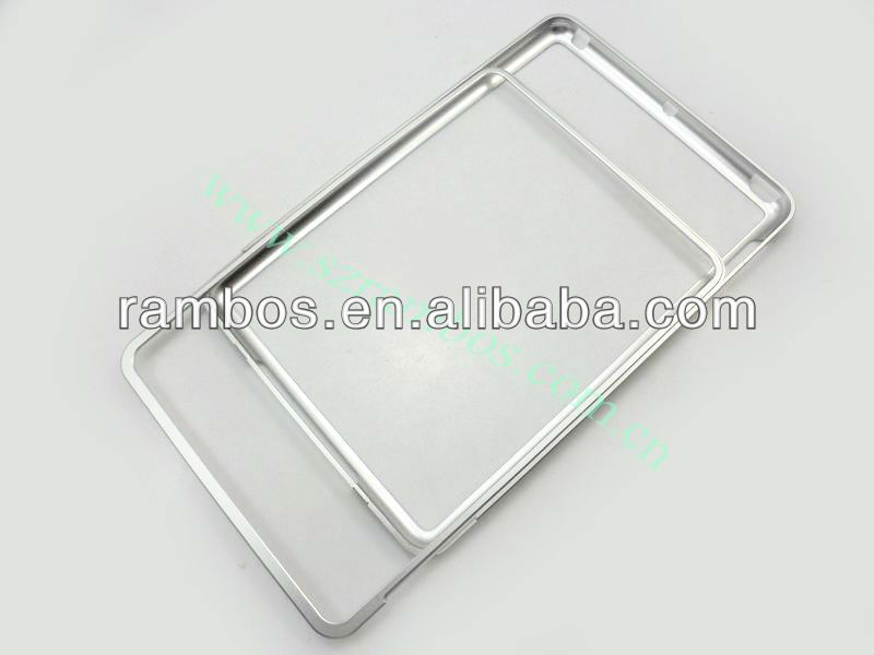 Slide Design Aluminum Alloy Bumper Metal Protective case for iPad mini