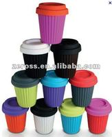 Food Grade Colorful Silicone coffea canephora cup,cafe cup,santos cup