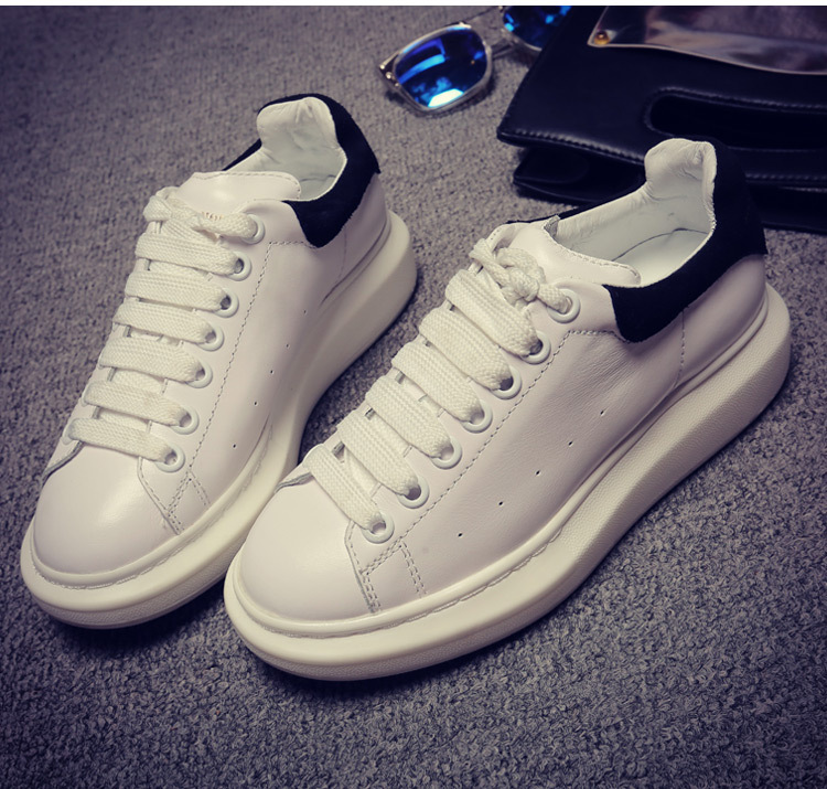 Omeal factory direct sale white natural cowhide sneakers women big yards shoes 35 to 43