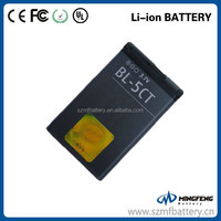 BL-5CT 3.7v 1050mAh mobile battery for NOKIA 5220XM 6303C 6730C C3-01 C3-01m C5-00 C5-02 C6-01