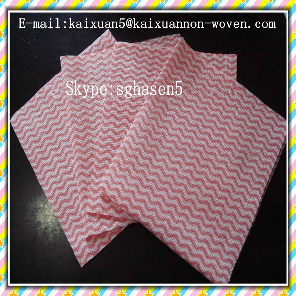 Polyester/viscose spunlace cleaning cloth for kitchen,biodegradable cleaning rags,China manufacturer of nonwoven/cleaning cloth