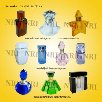 High quality Crystal perfume bottle, crystal bottle, crystal cap.and crystal crafts.