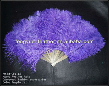 BY-OF1113-Ostrich feather fans