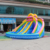 21x21' kids banzai large inflatable water pool slide made of lead free pvc tarpaulin from China Guangzhou inflatable factory