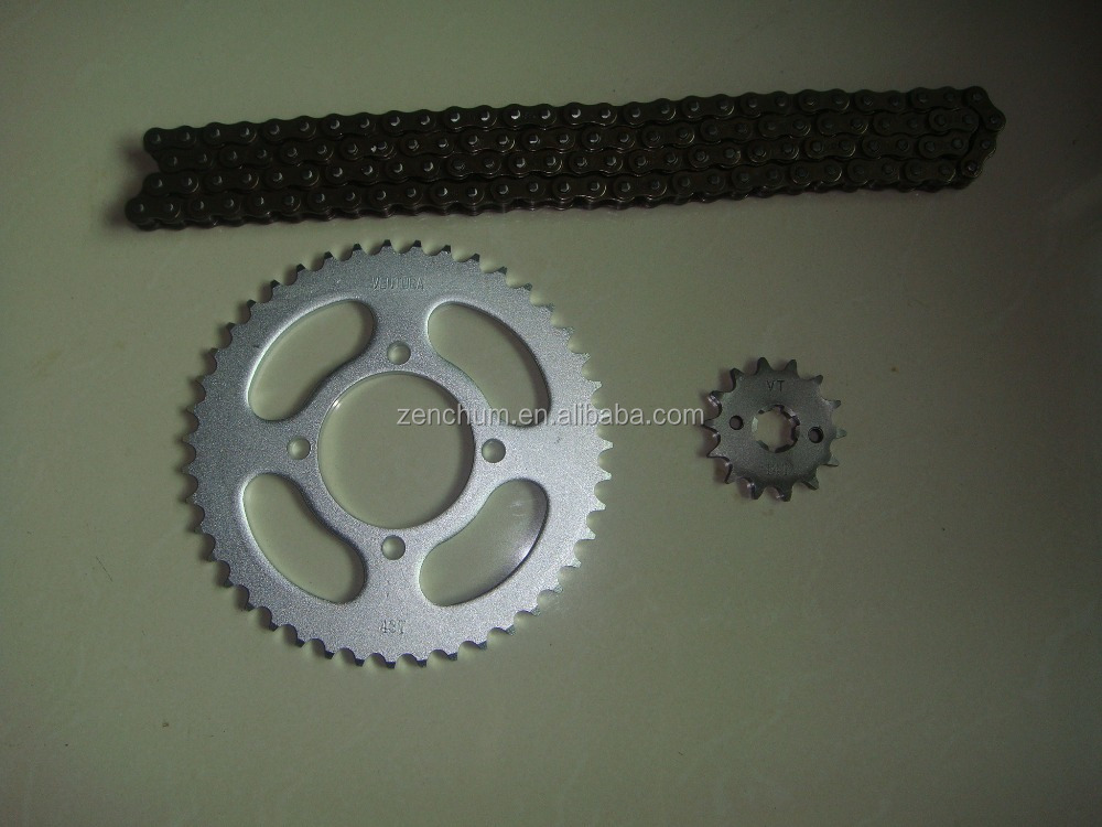 Motorcycle Transmission Chain Sprocket kits for Yamaha YBR 125 00/02 /YBR125 03/09 FACTOR 125 03/09 for Brazil Motorcycle