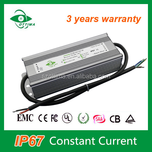 good quality power supply waterproof electronic led driver ip67 1500mA 50w for outdoor lighting