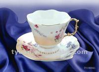 150ml lace edge porcelain modern tea cup saucer