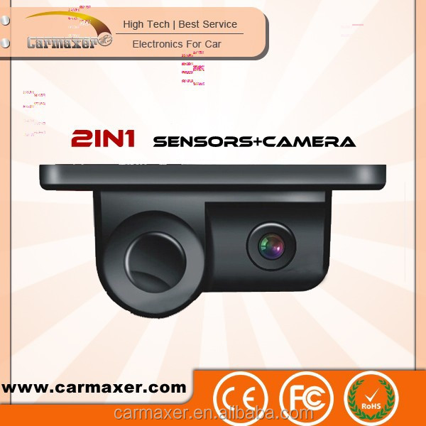 2in1 rear view 360 view car camera system with parking sensor / reversing camera with parking sensor