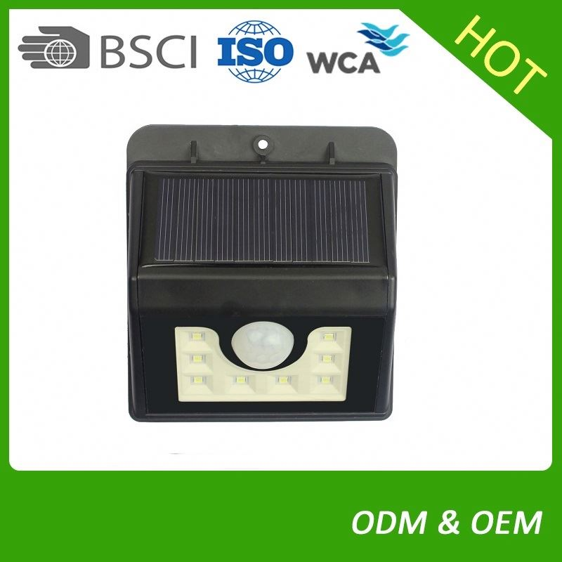 Factory Manufacturer Garden Light Door Wall Mounted Sensor Control Outdoor Solar Wall Light