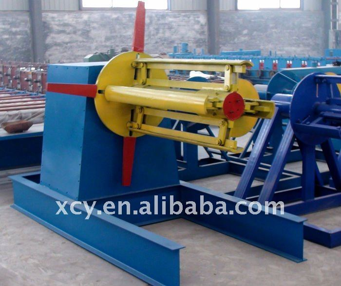5T manual steel coil uncoiler
