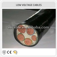 0.6/1KV 3 core PVC Insulation Electrical Power Cable