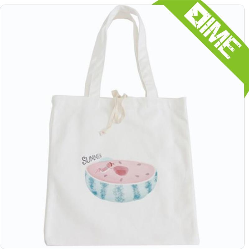 1-layer Cotton Linen Eco Reusable Shopping Tote Carrying Bag