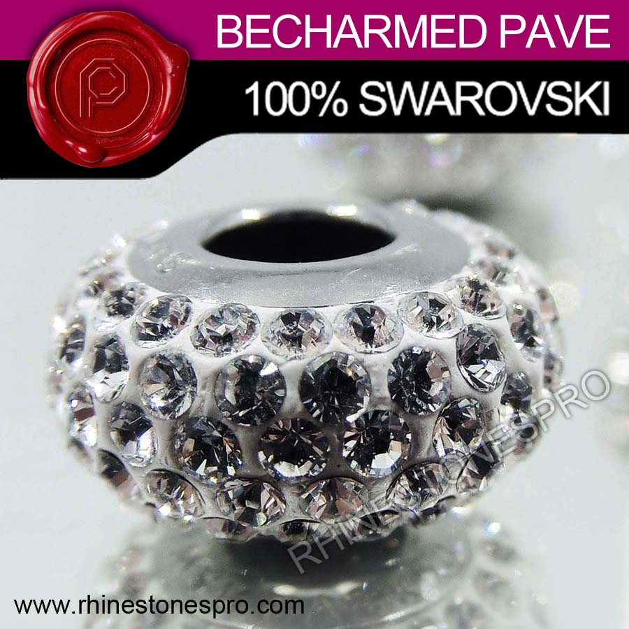 Swarovski Elements 81101 BeCharmed Pave Slim Crystal Stone
