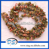 4X8MM Unakite Epidote Chips Gemstone Loose Beads