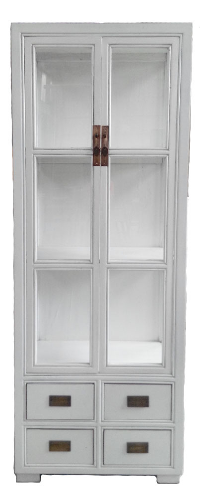 Chinese Antique Furniture Glass Cabinet