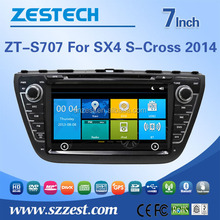 car dvd gps player for SUZUKI SX4 S-Cross 2014 car dvd gps with rear view camera with bluetooth car camera