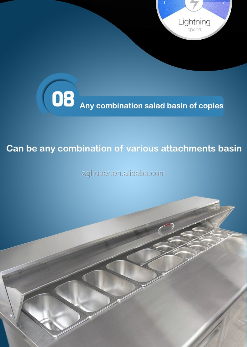 Cost-effective Kitchen equipment refrigerated salad bar Commercial used salad bar display freezer